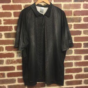 Nike Snakeskin pattern polo shirt size XXL